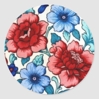 bild med blommor runt klistermärke