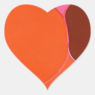 Bild som ska placeras hjärtformat klistermärke