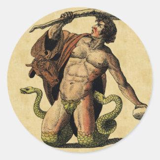 Bilda Mythology pläterar Runt Klistermärke