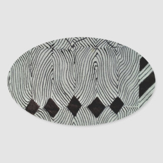 Bildande av diamanter ovalt klistermärke