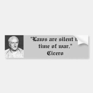 Bildekal: Cicero på krig Bildekal