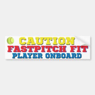 Bildekal för FastPitch färdig spelare ombord