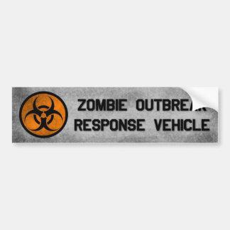 Bildekal för fordon för Zombieutbrottsvar