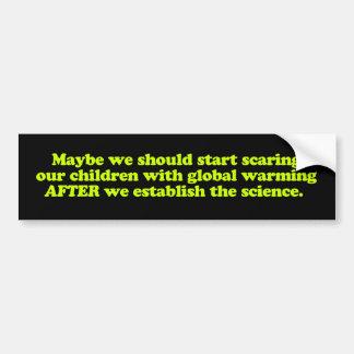 Bildekal för global värme & barn