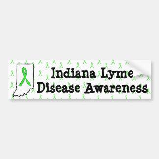 Bildekal för Indiana Lyme sjukdommedvetenhet