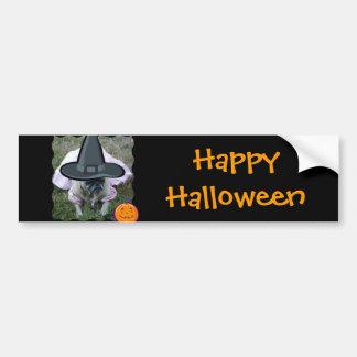 Bildekal för mopshundPrincess Häxa Halloween