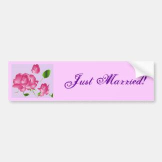 """Bildekal för rosa lavendel """"för ny gifta"""" rosa"""