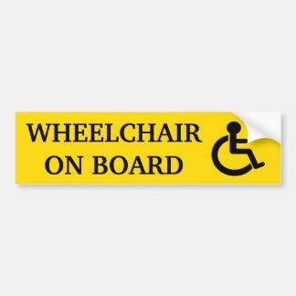 Bildekal för rullstol ombord
