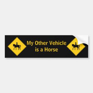 Bildekal för ryttare för vägteckenhästrygg