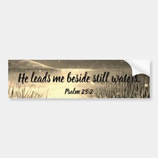 Bildekal för Scripture för Psalm23:2 kristen