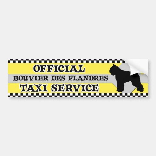 Bildekal för taxi för Bouvier des Flandres tjänste