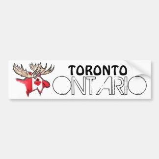 Bildekal för Toronto Ontario Kanada älgflagga