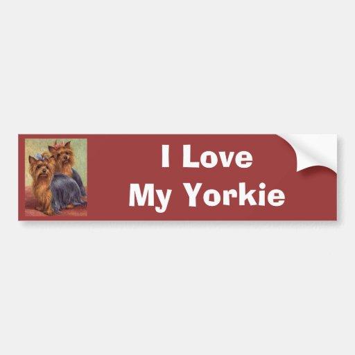 Bildekal för vintage för Yorkshire Terrier