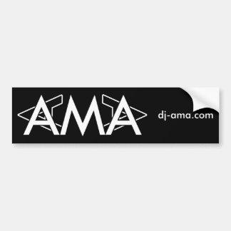 Bildekal - halv logotyp för DJ Ama med websiten