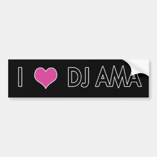 Bildekal - jag älskar DJ Ama (svarten)
