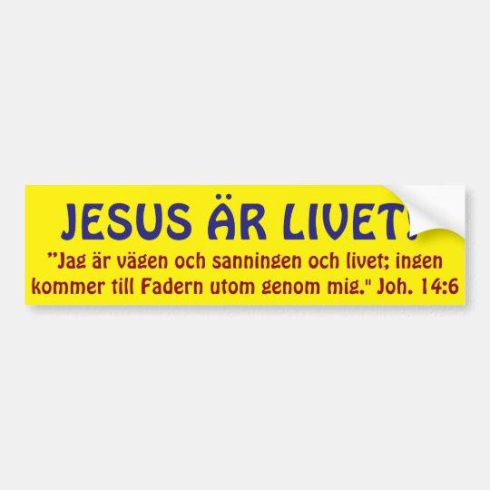 Bildekal, JESUS ÄR LIVET Bildekal
