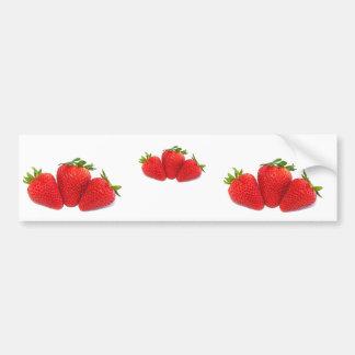 Bildekal med jordgubbar