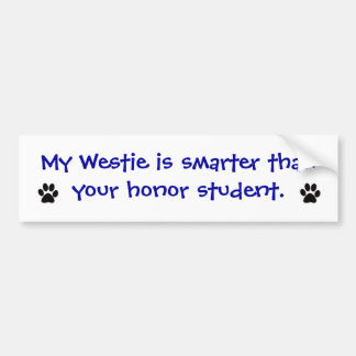 Bildekal - min Westie är mer smart