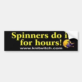 Bildekal - spinners gör det för timmar!