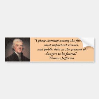 Bildekal: Thomas Jefferson på skuld Bildekal