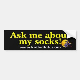 Bildekalet - fråga mig om min sockor! bildekal