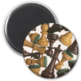Bilden av schacket lappar magnet