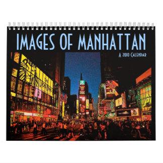 Bilder av den Manhattan kalendern Kalender