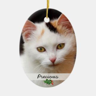 Bilder av husdjur, tvåsidig prydnad julgransprydnad keramik