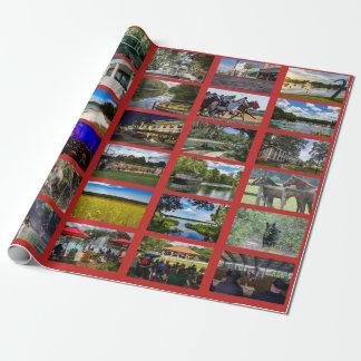 Bilder av Ocala med röd bakgrund Presentpapper