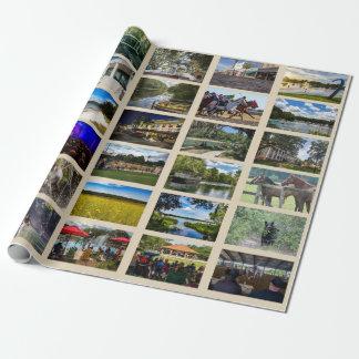 Bilder av Ocala med solbränd bakgrund Presentpapper