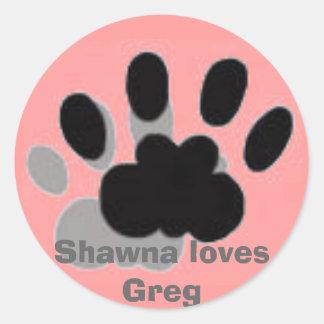 bilder Shawna älskar Greg Runt Klistermärke