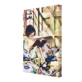 Bilderböcker i vinter canvastryck