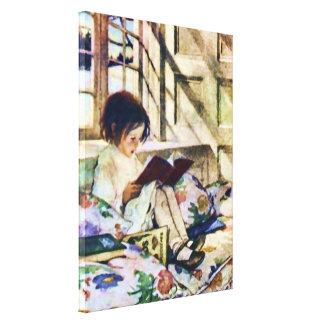 Bilderböcker i vinterJessie Willcox konst Canvastryck