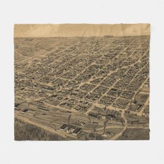 Bildmässig karta för vintage av Texarkana (1888) Fleecefilt
