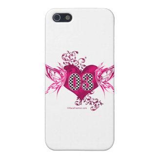 bilen för tävling 03 numrerar fjärilar iPhone 5 cases