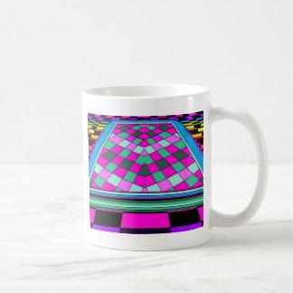 Biljard omarbetad popkonst CricketDiane Geometrix Kaffemugg