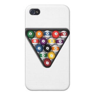 Biljarden/bassängbollar med tappar skuggar: iPhone 4 skal