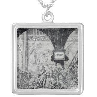 Biljett för coronationen av George III Silverpläterat Halsband