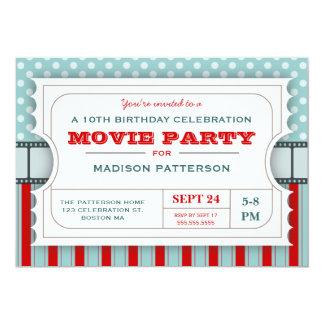 Biljett för erkännande för födelsedagsfest för 12,7 x 17,8 cm inbjudningskort