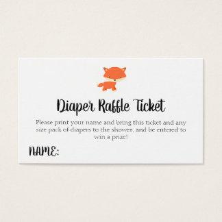 Biljett för Raffle för blöja för skogsmarkbaby