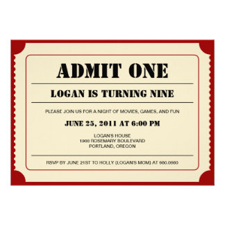 Biljetten stöter partyinbjudan