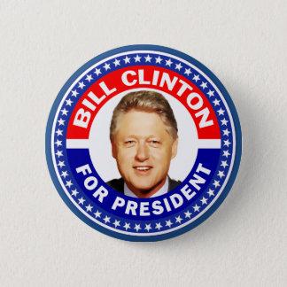 Bill Clinton för president Standard Knapp Rund 5.7 Cm