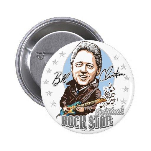 Bill Clinton politiska Rockstar! Knäppas Knappar Med Nål