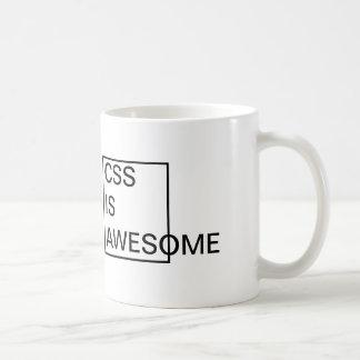 Billigten CSS är den ENORMA MUGGEN Vit Mugg