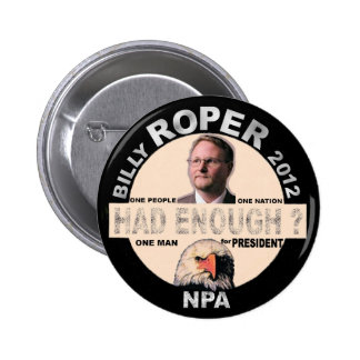 Billy Roper för presidenten 2012 Standard Knapp Rund 5.7 Cm
