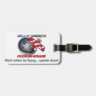 Billy Werth Airshows Bagagebricka