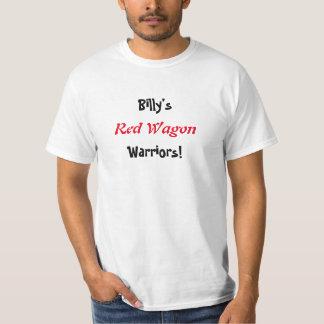 Billys värderar den röda skjortan för vagnkrigare t shirts
