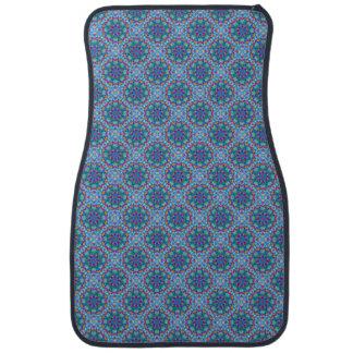 Bilmattor för hjärtavintageblått beklär