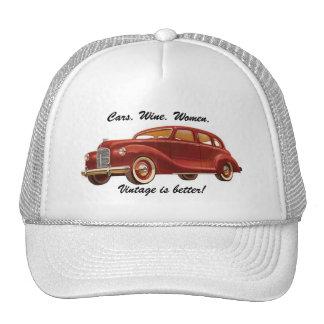 Bilvinkvinnor: Vintage är bättre! Rolig hatt Keps