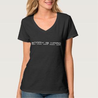 Binär är den hårda #TWSSdamutslagsplatsen T Shirts
